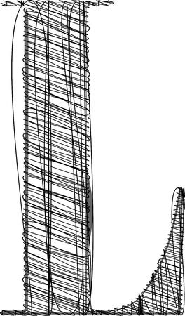 chapiteaux: Main � tirage de la police. Vector illustration