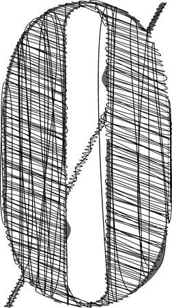 Hand drawn font. Vector illustration  Vector