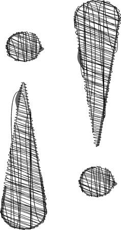 Hand te trekken lettertype. Vector illustratie