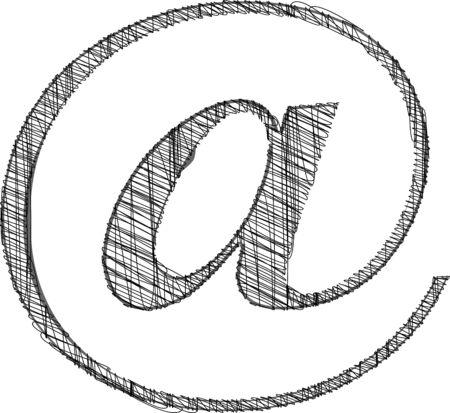 Hand draw font. Vector illustration
