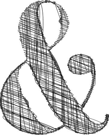 pencil case: Hand draw font. Vector illustration