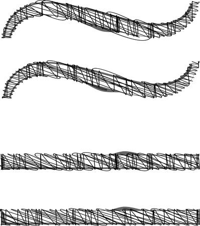 Hand tekenen lettertype. Vector illustratie