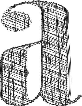 abecedario graffiti: Mano de la cuerda de la fuente. Ilustraci�n vectorial Vectores
