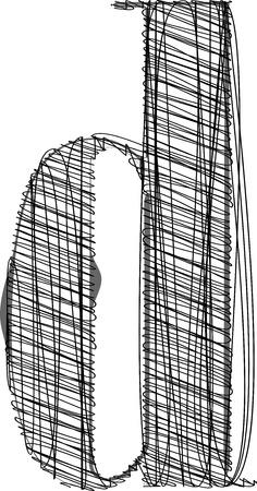 Hand draw font. Vector illustration Vector
