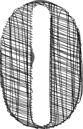 Main à tirage de la police. Vector illustration