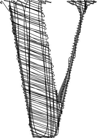 Hand draw font. Vector illustration Stock Vector - 11780134
