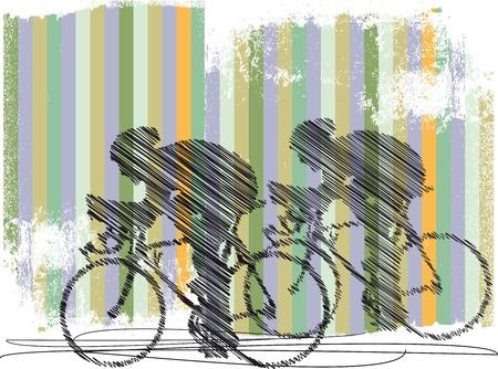 bikers illustration Illustration