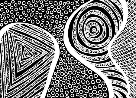 positives: Artistic freehand Background. illustration