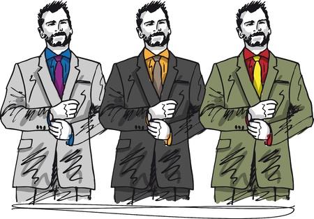 Sketch of fashion handsome man. illustration Vector