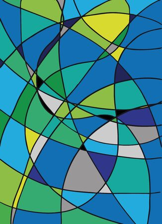 asymmetric: Hand drawn abstract background. illustration