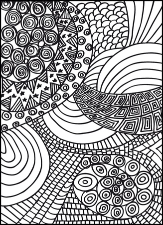 doodle art: Hand drawn abstract background. illustration