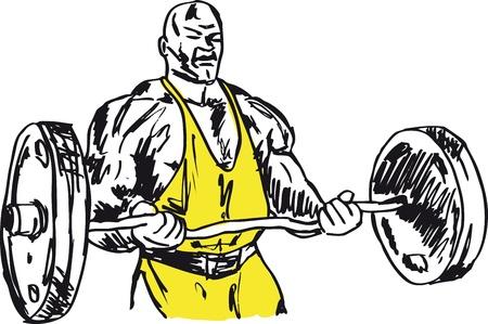 testépítő: Vázlat az erős ember. ábra Illusztráció