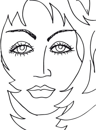 Abstract woman face. illustration Vector