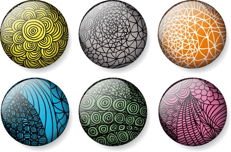 Abstract glossy round buttons Stock Vector - 12145392