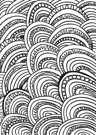 freehand drawing: Abstract design vector background
