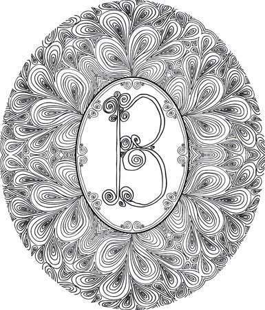 Hand draw font  Letter B  Vector illustration  Vector