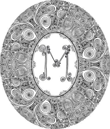 Hand draw font  Letter M  Vector illustration Stock Vector - 12392992