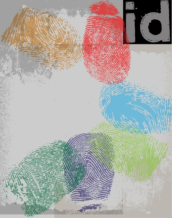 finger proof: Finger print id  Vector illustration Illustration