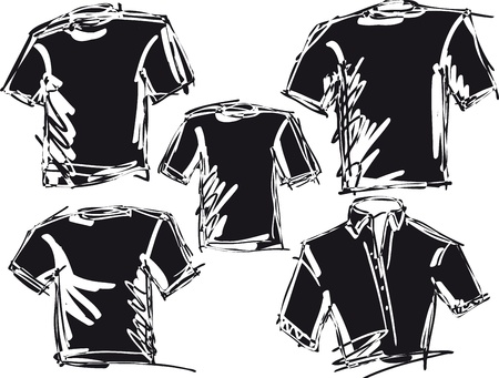 tee shirt: tee sketch  vector illustration