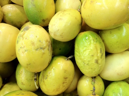 Passion fruit or maracuya background  photo