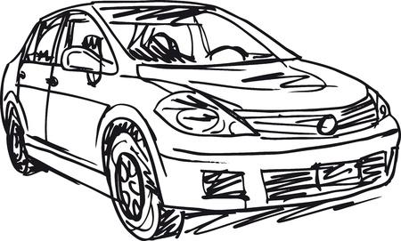 suv: sketch of 3 cars  Vector illustration