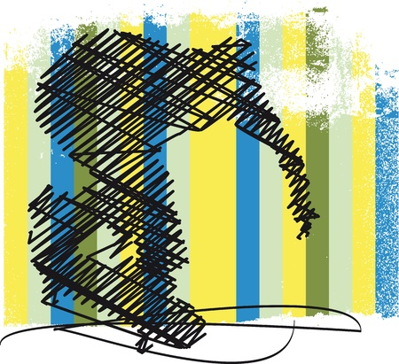 athleticism: Abstract Skateboarder jumping  Vector illustration Illustration