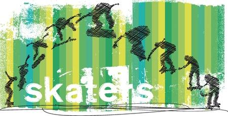 individualit�: Estratto Skateboarder salto vettore Vettoriali