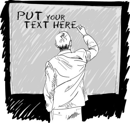 personas de espalda: algo que la escritura masculina en la ilustración vectorial Junta Vectores