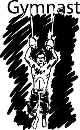 sport gymnastics rings  vector illustration  Vector