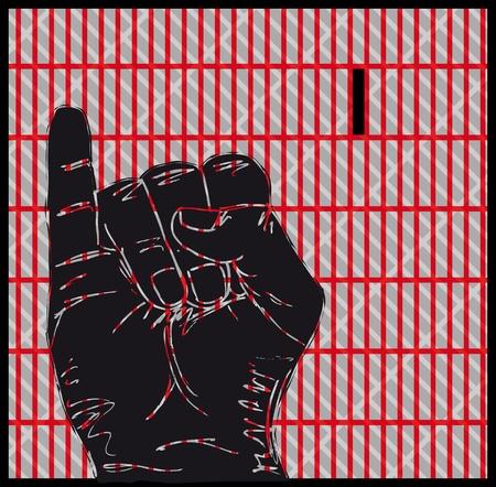 point i: Sketch of Sign Language Hand Gestures, Letter i illustration