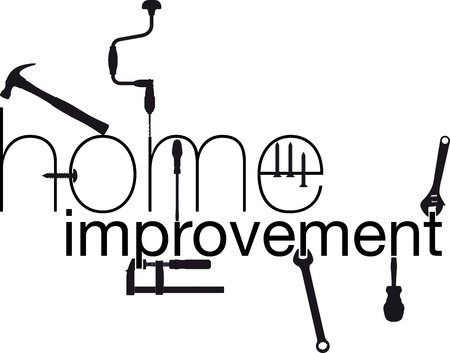 home improvements: home improvement  Vector illustration Illustration