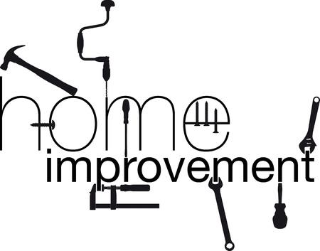 renovation de maison: Vector illustration de r�novation domiciliaire Illustration