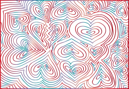 Abstract hearts background. Vector illustration Vector