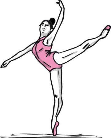 Sketch of ballet dancer illustration Vector
