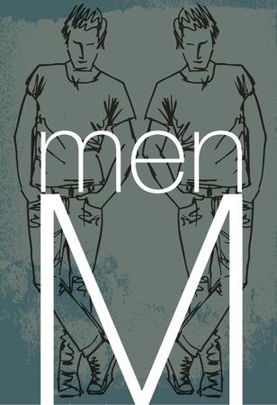 handsome men cover. Vector illustration Stock Vector - 13214913