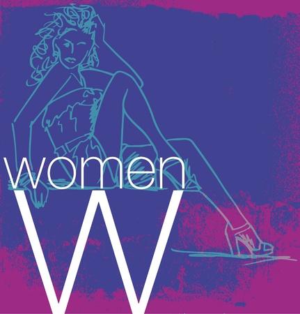 glamour model: Cover Women. Vector illustration