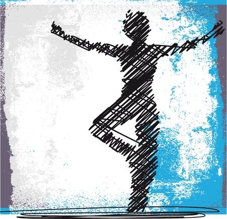 mujer meditando: Sketch Resumen de meditar y hacer yoga Mujer. Ilustraci�n vectorial