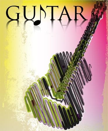 Abstract guitar. vector illustration Illustration