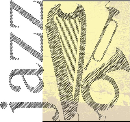 jazz sketch. Vector illustration Stock Vector - 13214939