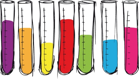fluids: Sketch of test tube. vector illustration