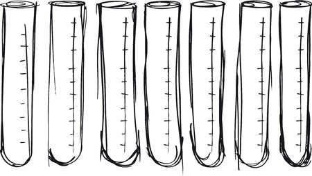 a solution tube: Sketch of test tube. vector illustration