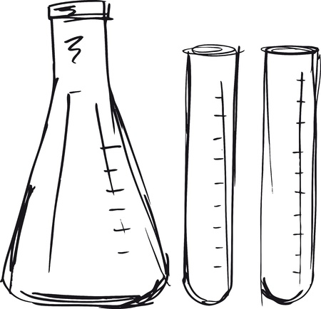 laboratory test: Sketch of test tube illustration