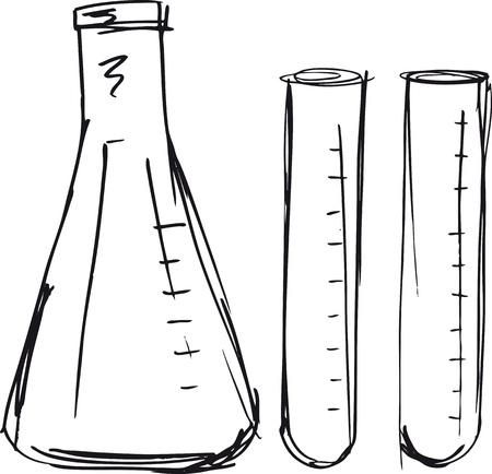 testtube: Sketch of test tube illustration