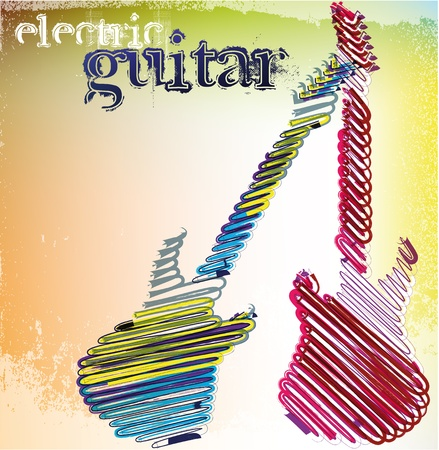 electric guitars: abstract musical guitar. vector illustration Illustration