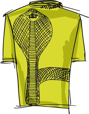short sale: Sketch of cobra tee. Vector illustration