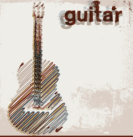 guitarists: Abstract guitar. vector illustration Illustration