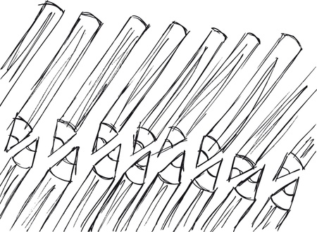 sketch of pencils pattern. Vector illustration Stock Vector - 13214881