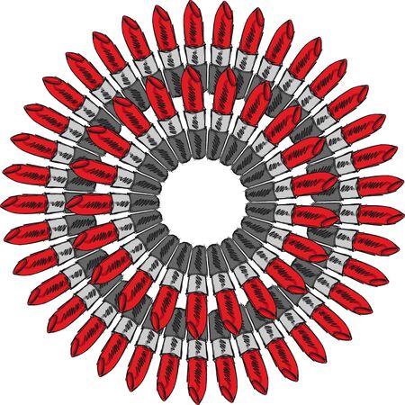 Croquis de Rouge à Lèvres isolé sur un fond blanc Vector illustration Vecteurs