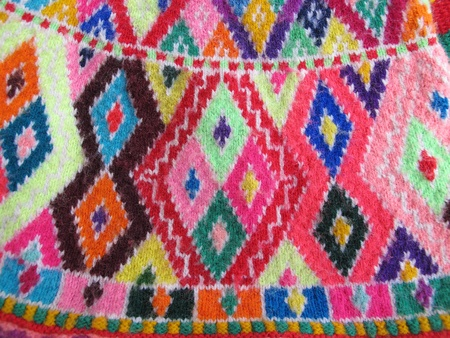 Peruvian hand made woolen fabric photo