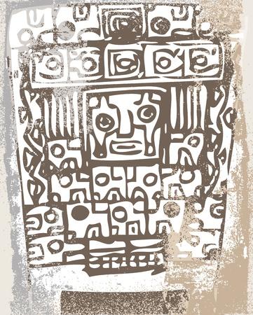 Grunge inca icon. Vector illustration Stock Vector - 13254373